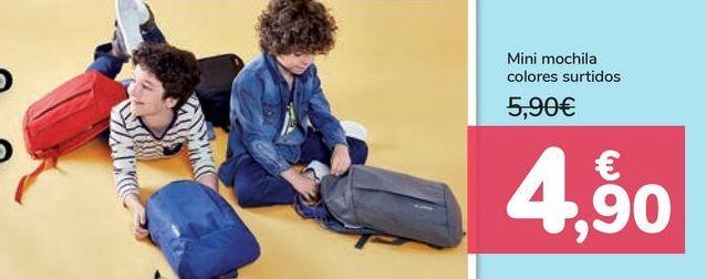 Oferta de Mini mochila colores surtidos  por 4,9€
