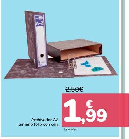 Oferta de Archivador AZ tamaño folio con caja  por 1,99€