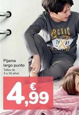 Oferta de Pijama largo punto por 4,99€
