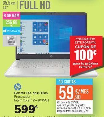 Oferta de Portátil 14s-dq1015ns Hp  por 599€