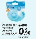 Oferta de Dispensador mas cinta adhesiva Carrefour  por 0,9€