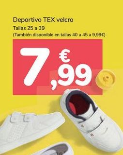 Oferta de Deportivo TEX velcro por 7,99€