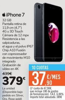 Oferta de IPhone7 por 379€