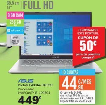 Oferta de Portátil F409JA-EK072T ASUS por 449€