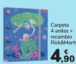 Oferta de Carpeta 4 anillas + recambio Rick&Morty  por 4,9€