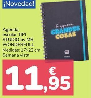 Oferta de Agenda escolar TIPI STUDIOS by MR WONDERFULL  por 11,95€