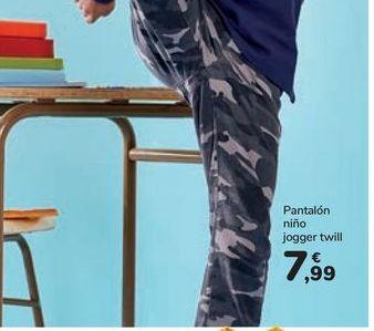 Oferta de Pantalón niño jogger twill por 7,99€