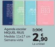 Oferta de Agenda escolar MIQUEL RIUS  por 2,9€