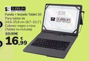 Oferta de Funda + teclado Tablet T10 por 16,99€