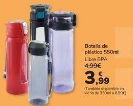 Oferta de Botella de plástico 550ml por 3,99€