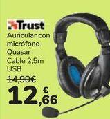 Oferta de Auricular con micrófono Quasar Trust  por 12,66€
