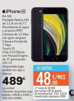 Oferta de IPhone SE  por 489鈧�