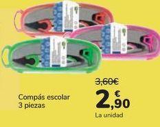 Oferta de Compás escolar 3 piezas  por 2,9€