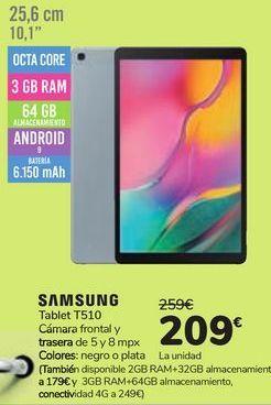 Oferta de Tablet T51O Samsung  por 209€