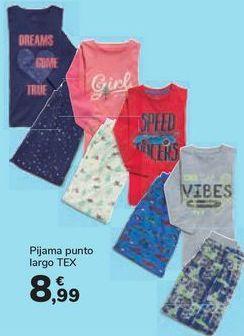 Oferta de Pijama punto largo TEX por 8,99€