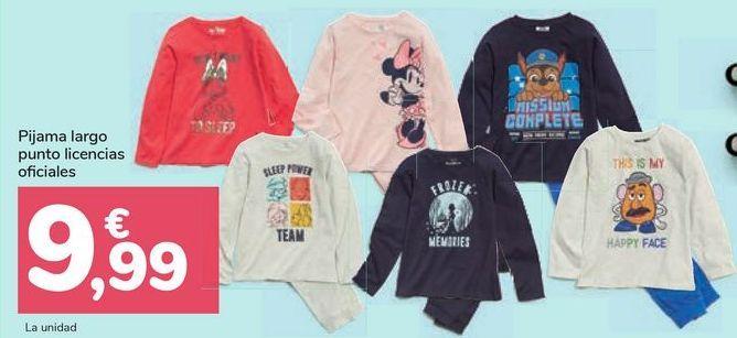 Oferta de Pijama largo punto licencias oficiales por 9,99€