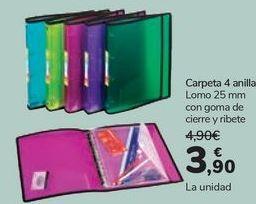 Oferta de Carpeta 4 anillas  por 3,9€