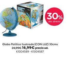 Oferta de Globo politico ilustrado (CON LUZ) 30 cms por 16,99€