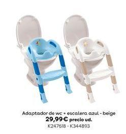 Oferta de Adaptador de wc + escalera azul - beige por 29,99€