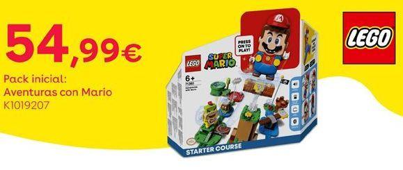 Oferta de Pack inicial: aventuras con Mario por 54,99€