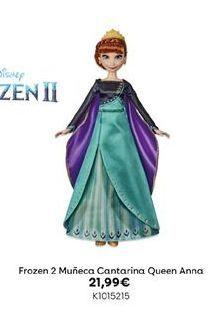Oferta de Frozen 2 Muñeca Cantarina Queen Anna por 21,99€