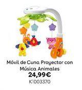 Oferta de Móvil de Cuna Proyector con Música Animales por 24,99€