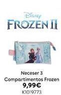 Oferta de Neceser 3 compartimientos frozen por 9,99€