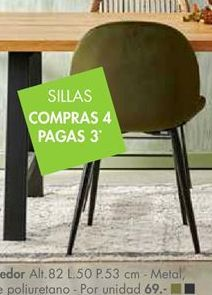 Oferta de Silla de comedor por 69€