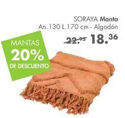 Oferta de Manta por 18,36€