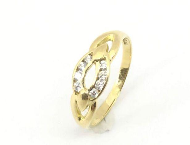 Oferta de Anillo oro primera ley (oro 18k con piedra) por 114,95€