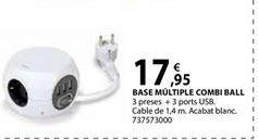 Oferta de Base múltiple con interruptor por 17,95€