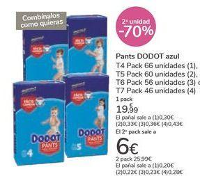 Oferta de Pañales DODOT azul por 19,99€