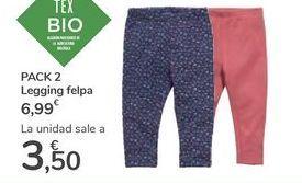 Oferta de PACK 2 Legging felpa  por 6,99€