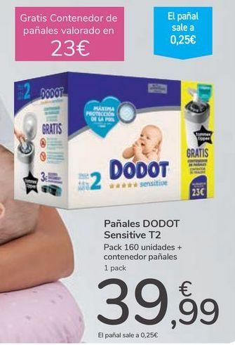 Oferta de Pañales DODOT Sensitive  por 39,99€