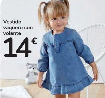 Oferta de Vestido vaquero con volante  por 14€
