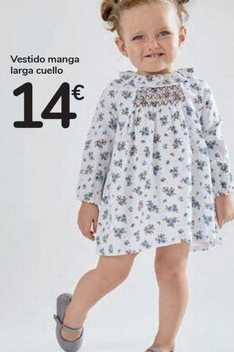 Oferta de Vestido manga larga cuello  por 14€