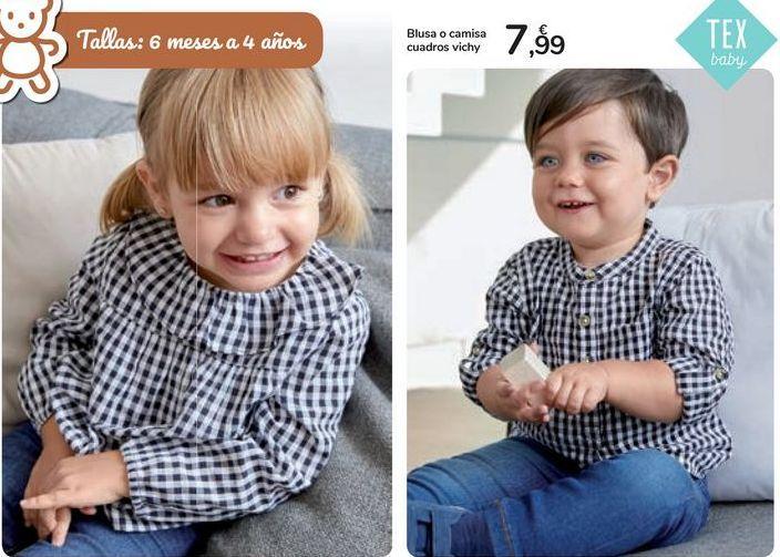 Oferta de Blusa o camisa cuadros Vichy  por 7,99€