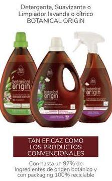 Oferta de Detergente, Suavizante o limpiador lavanda o cítrico BOTANICAL ORIGIN por