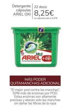 Oferta de Detergente cápsulas ARIEL OXI  por 8,25€