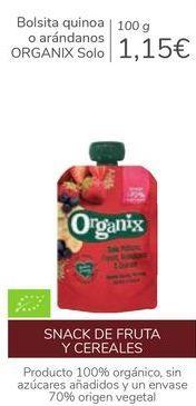 Oferta de Bolsita quinoa o arándanos ORGANIX solo  por 1,15€