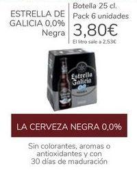 Oferta de ESTRELLA DE GALICIA 0,0% Negra  por 3,8€