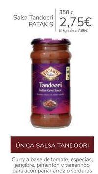 Oferta de Salsa Tandoori PATAK'S por 2,75€