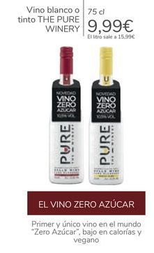 Oferta de Vino blanco o tinto THE PURE WINERY  por 9,99€