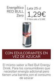 Oferta de Energético RED BULL Zero  por 1,29€