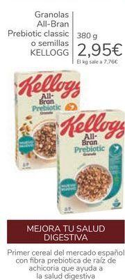 Oferta de Granolas All-Bran Prebiotic classic o semillas KELLOGG por 2,95€