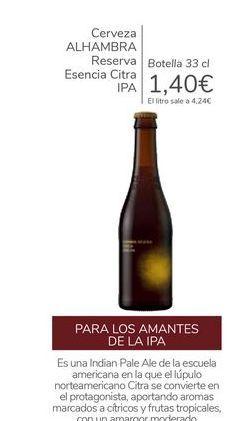 Oferta de Cerveza ALHAMBRA Reserva Esencia Citra IPA  por 1,4€