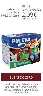 Oferta de Batido de chocolate PULEVA Zero  por 2,09€