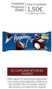 Oferta de Pastelitos Pingüinos BIMBO por 1,5€