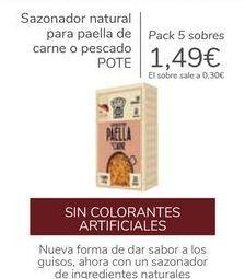Oferta de Sazonador natural para paella de carne o pescado POTE por 1,49€
