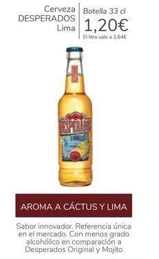 Oferta de Cerveza DESPERADOS Lima  por 1,2€
